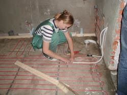 Монтаж электрического теплого пола в Прокопьевске. электрический теплый пол