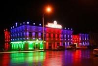 Наружное освещение: архитектурное освещение зданий, фасадов дома в Прокопьевске